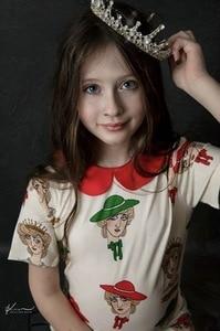 Image 2 - 2020 Ins 뜨거운 아기 소녀 옷 아이 드레스 여자 Vestidos 공주 드레스 Vestidos 여자 레깅스 pyjama 세트 가족 Matchin