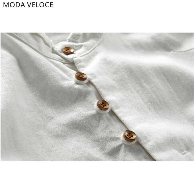 男性の綿リネンシャツ長袖男性カジュアルスリムマンダリン襟シャツ高品質夏のビーチのシャツプラスサイズ 6xl
