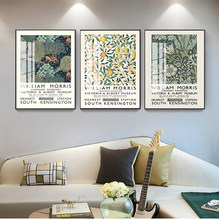 Affiche sur toile De William Morris, affiche d'exposition du musée Victoria et alice De londres, Art Nouveau, mur De peinture
