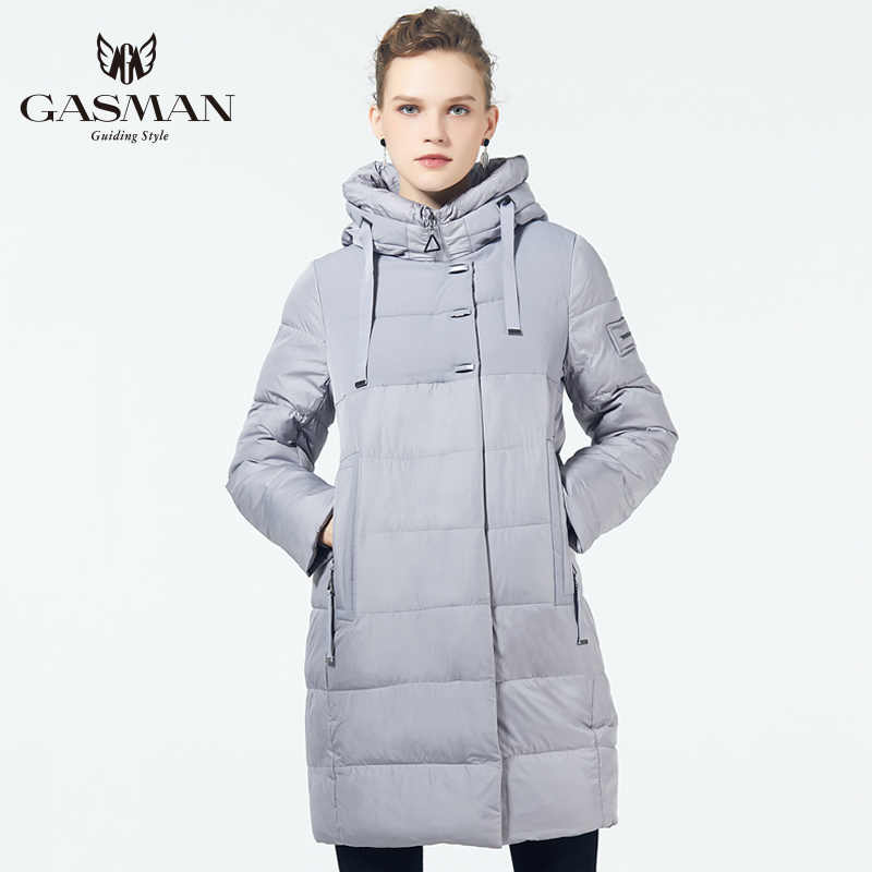 GASMAN 2019 Winter Women's Parka New Collection Windproof Women's Thick Coat Hooded European Style Women's Warm Jacket Down