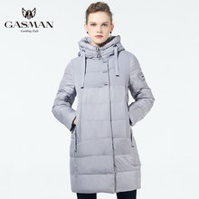 GASMAN 2019 Winter Women's Parka New Collection Windproof Women's Thick Coat Hooded European Style Women's Warm Jacket Down(China)