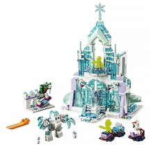 лучшая цена 2019 Elsa Anna Romantic Castle Model Building Blocks Cinderella Princess Castle City Set Friends B613