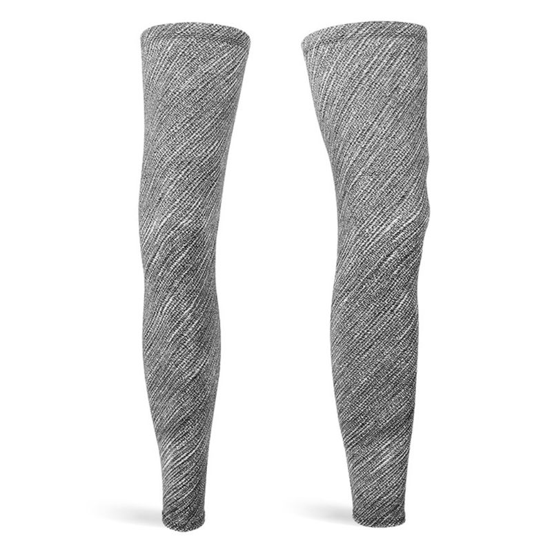 Unisex Full Length Compression Summer Ice Silk Leg Sleeves UV Protection Skull Graffiti Non-Slip Sports Basketball Long Sleeves