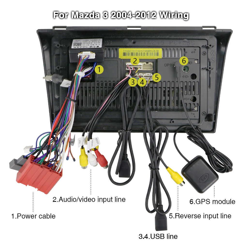 """Hikity سيارة مشغل وسائط متعددة أندرويد لتحديد المواقع والملاحة 2DIN Autoradio واي فاي 2 الدين 9 """"سيارة الصوت راديو ستيريو لمازدا 3 2004-2009"""