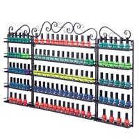 3 pcs 5 Tier Metal Nail Polish Display Organizer Wall Rack Holder Nail Polish Bottles Wall Hanging Storage Rack Home Organizedor