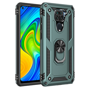 Armor Shockproof Phone Case For Xiaomi Redmi Note 9 9S Pro MAX Anti-Fall Finger Ring Holder Magnetic Shell Kickstand Case Cover