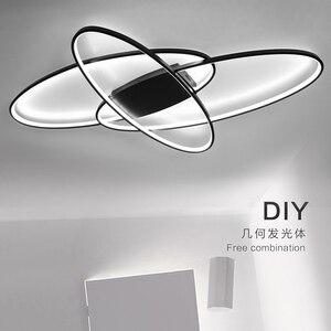 Image 2 - LICAN lustre Lustres Iluminação Para sala de estar Casa Dezembro plafonnier Avize Luminarine iluminação Lustre de Teto luz Branca