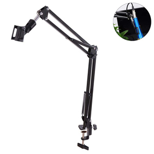 Image 2 - Professional Studio Recording Adjustable Table Mounting Microphone Arm Stand Holder Scissor Arm Clamp Broadcasting Professional