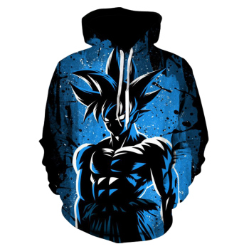 2020 New Seven Dragon Ball Z 3D Printed Men's Hoodies and   Animation Home Fashion Leisure Black Goku Garment Enlarged Size 1