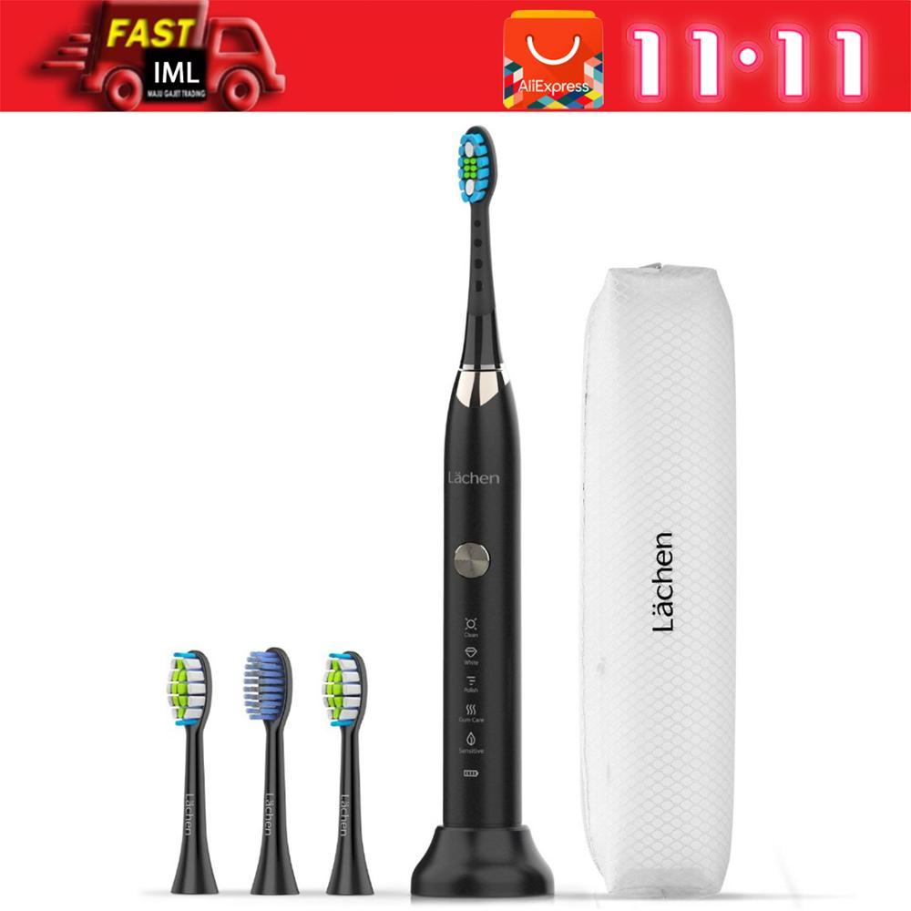 Lachen RM-T7B Electric Toothbrush Sonic toothbrush with 4 brush heads and timer 5 modes USB charging 60 days battery life IPX7 image