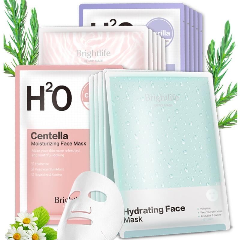 Оригинальная Корейская маска для лица увлажняющая маска для лица листовая Маска Анти Старение Отбеливание Косметика для ухода за кожей
