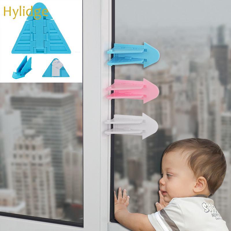 Hylidge Baby Safety Lock For Sliding Door Window Child Protection Lock Anti-pinch Wings Kids Safety Lock For Push-pull Door