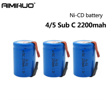 4/10/20pcs 4/5 Sub C SC Ni-Cd 1.2V 2200mAh Rechargeable Batteries with Welding Tabs for Bosch Dewalt Electric Drill Screwdriver image