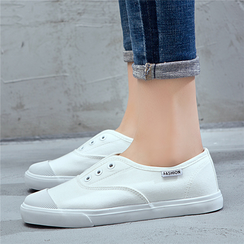 Womens Fashion Sneakers Casual Canvas Shoes Woman Flats Classics Vulcanize Shoes Ladies Low top Loafers Students Skateboarding in Women 39 s Vulcanize Shoes from Shoes