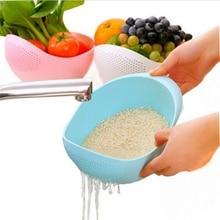 Multifunctional plastic colorful  kitchen washing rice sieve bowl drain washing basket collaps washing bowl
