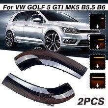 2pcs LED Dynamic Turn Signal Blinker Side Mirror Indicator Light for VW GOLF 5 MK5 Jetta Passat B5.5 B6 Sharan Superb EOS