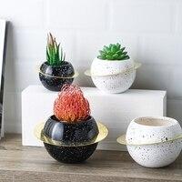Hydroponic Flower Pot, Non porous Flower Pot, Planet Flower Pot, Ceramic Flower Pot, Artificial Flower Pot, Desktop Decoration
