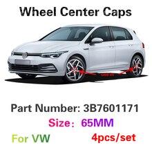 4Pcs 65MM Car Accessories Wheel Center Hub Cap For VW T4 T5 Caddy Boost Polo Golf 3 4 5 6 7 Touran Tiguan Passat B5 B6 B7 Beetle