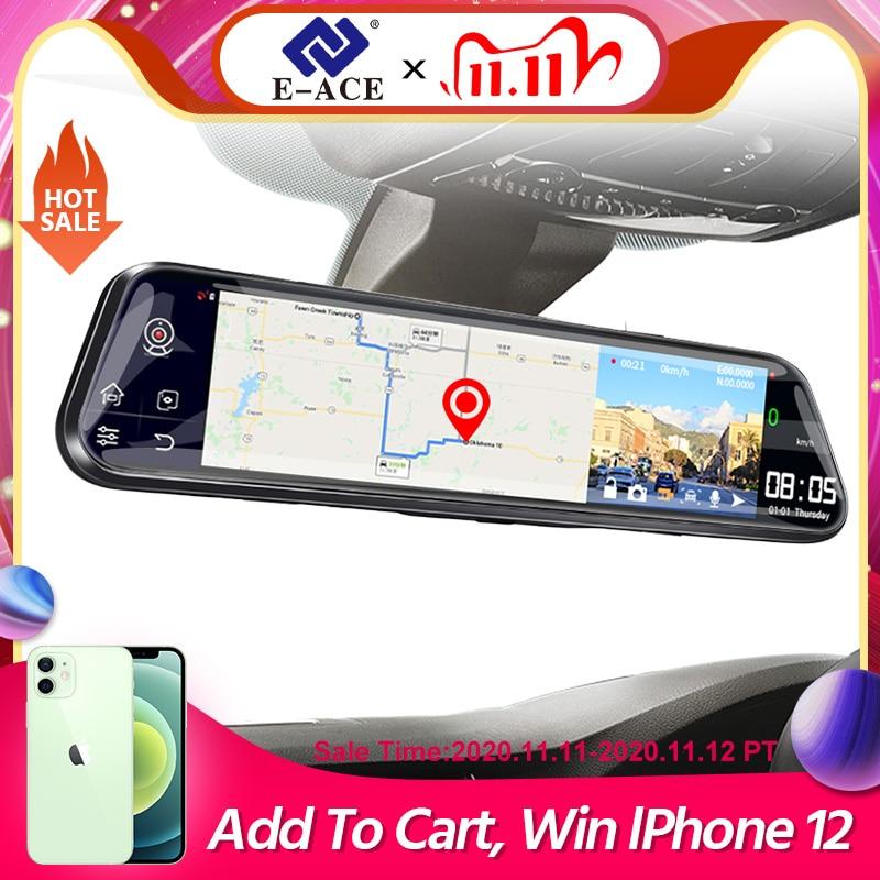 E ACE D14 12 Inch 4G Android 8.1 Car Dvr Mirror GPS Navigation Dash Cam Auto Video Recorder Dual Lens support 1080P Rear Camera|DVR/Dash Camera| - AliExpress