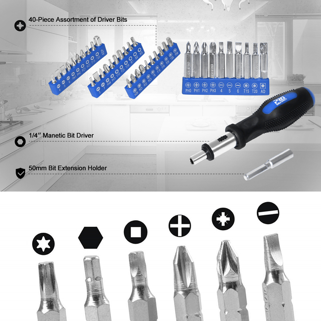 198Pcs Hand Tool Set DIY Home Repair Tool Kit Woodworking Tools Bag Car Repair Tool Set Wrench Saw Screwdriver By PROSTORMER 4