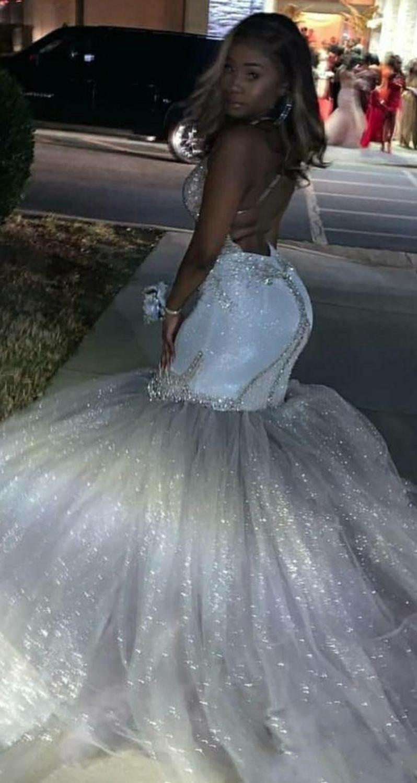 Купить роскошные вечерние платья с v образным вырезом кристальный шлейф