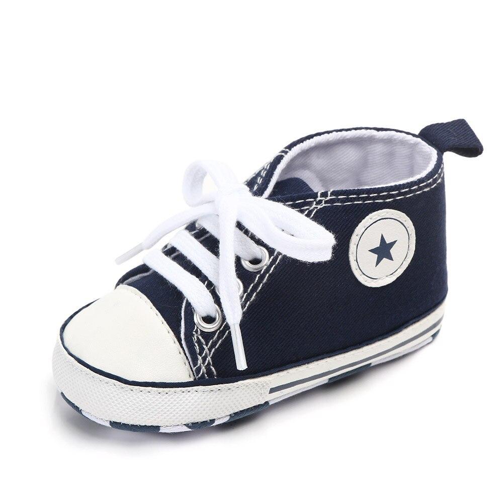 Chaussures bébé Garçon Fille Solide Sneaker Coton Doux Semelle Antidérapante Nouveau-Né Infantile Premiers Marcheurs Bambin décontracté Sport Chaussures de Berceau 14