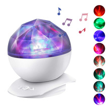 LED Colorful Night Light Surf Man Projector With Audio Projection Lamp Couple Romantic Atmosphere Lights 5V USB