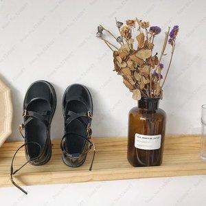 Image 5 - יפני סגנון לוליטה Kawaii נשים בית ספר נעלי JK אחיד Cos אקדמיה חגורת אבזם עור נעלי נסיכת אנימה קוספליי Coatumes