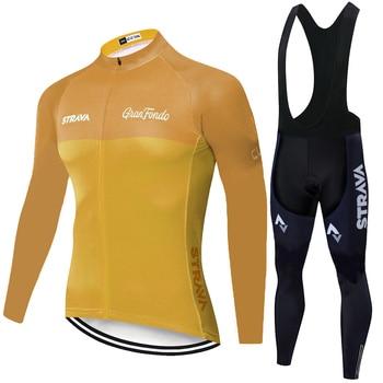 Nueva camiseta de ciclismo STRAVA verano primavera ropa de ciclismo hombre 2020...