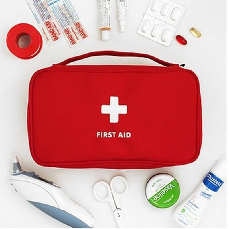 Portable Medical Bag First Aid Box Medicine Classification Sundries Storage Bag Fashion Travel Portable First Aid 23*13*7.5 Cm