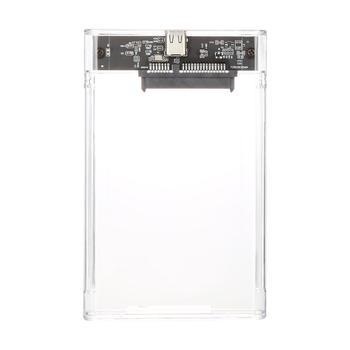 2.5inch HDD Case USB 3.0 High Speed Transmission Type-c Transparent External Hard Disk Case USB 3.1 5Gbps
