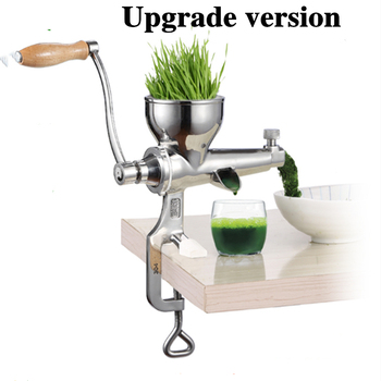 цена на 2020 New Stainless Steel wheatgrass juicer Auger Slow squeezer Fruit Wheat Grass Vegetable orange juice press extractor