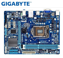 Настольная Материнская плата GIGABYTE GA-H61M-DS2 PC H61 Socket LGA 1155 i3 i5 i7 DDR3 16G uATX UEFI H61M-DS2 материнская плата
