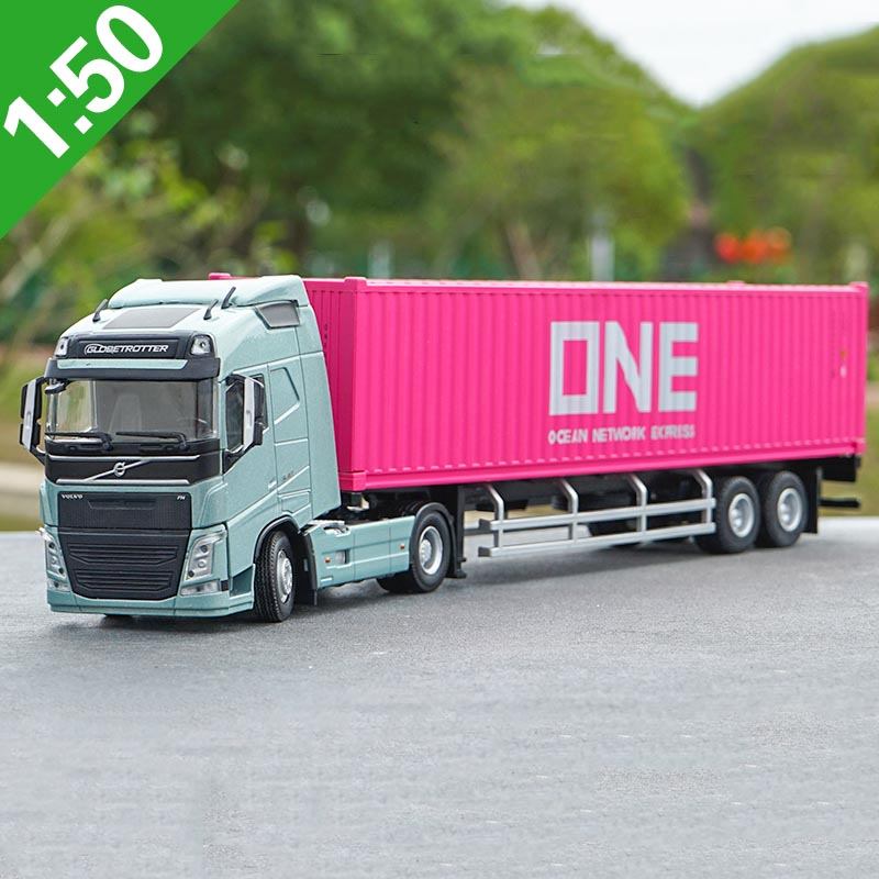 1/50 Scale alloy container model simulation diecast transport vehicle  trailer container truck model adult kids gift collection