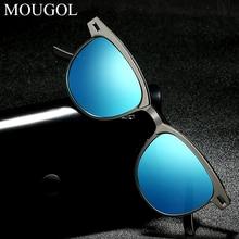 MOUGOL2019 New Men Polarized Round Sunglasses for Women Driving Travelling Polarised Eyewear Unisex Vintage Male Sun Glasses