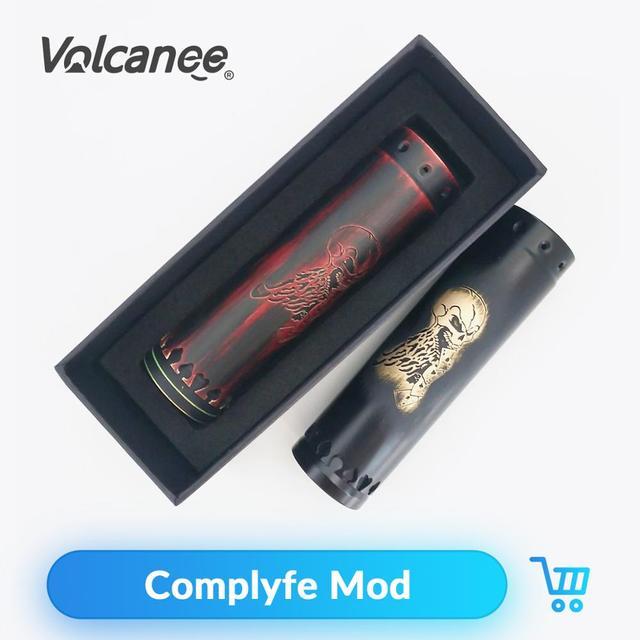Volcanee Complyfe 510 fil classique Mech Mod 25mm de diamètre alimenté par 18650 vaporisateurs de batterie VS Atto Vape Mod