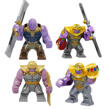 Avengers 4 Endgamer Action Figure Thanos Black Panther Hulk Iron Man Glove Blocks Compatible Marvel Toy avengers infinity war statue superhero iron man black panther bust thanos enemy half length photo or portrait action figure toy
