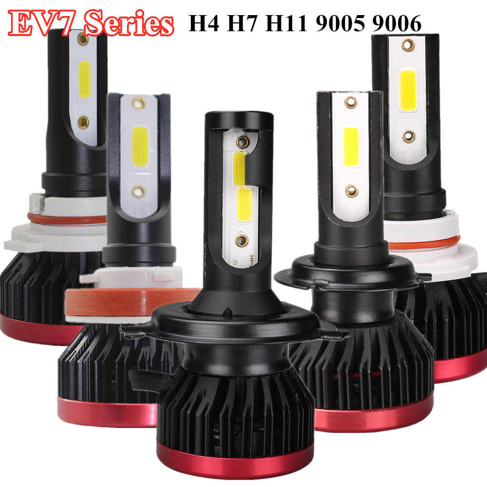 H7 <font><b>H4</b></font> Car <font><b>LED</b></font> Headlight Bulbs H11 H8 H9 9005 9006 HB4 HB3 72W <font><b>10000LM</b></font> 6000K 12V Auto Mini Head Lamp COB Fog Light image
