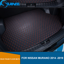 Rear Trunk Floor Mats For Nissan Murano 2014 2015 2016 2017 2018 2019 Leather Rear Cargo Trunk Floor Mats SUNZ floor mats liner 4 5d molded black fits nissan qashqai 2014 rubber floor mats