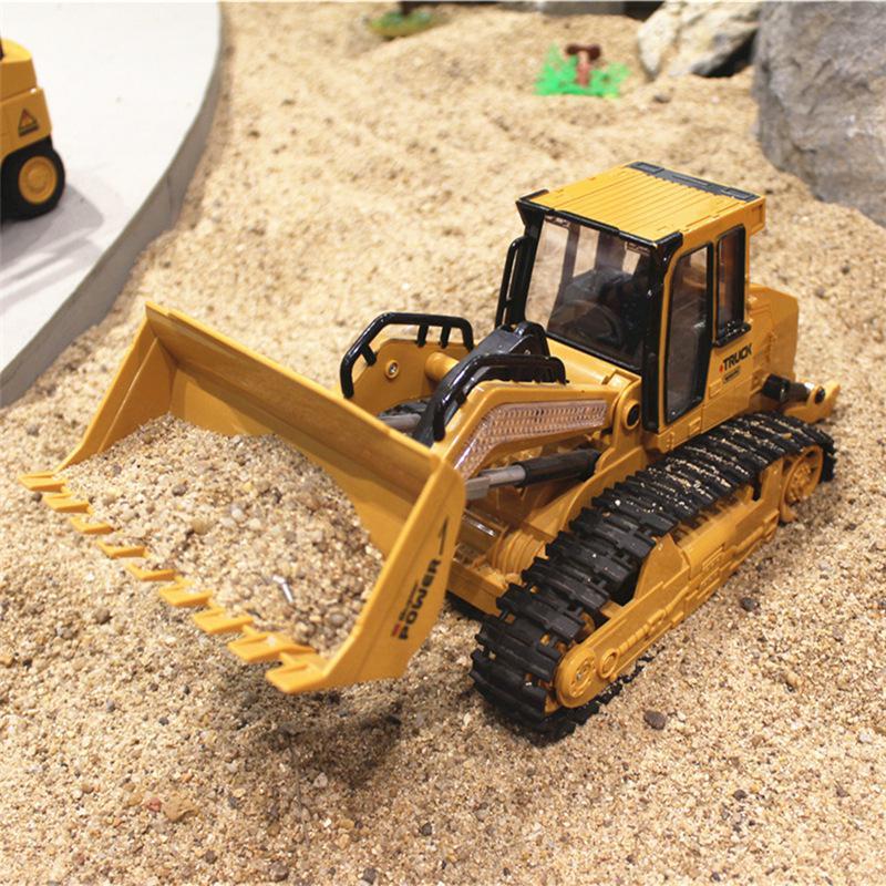 RC Truck Bulldozer Dumper Caterpillar Tractor Model Engineering Car Excavator Push Soil Music Lighting Effects Kids Toys
