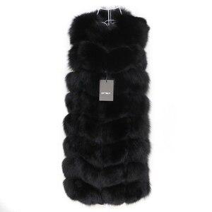 Image 4 - OFTBUY Chaleco de piel de zorro Real para mujer, chaqueta de invierno sin mangas, abrigo de piel Natural, chaleco calentador, ropa de calle cálida gruesa