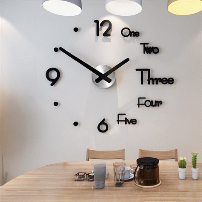 Clock Quiet Living-Room Home-Decoration Acrylic Creative Modern-Design Large 3D Quartz title=