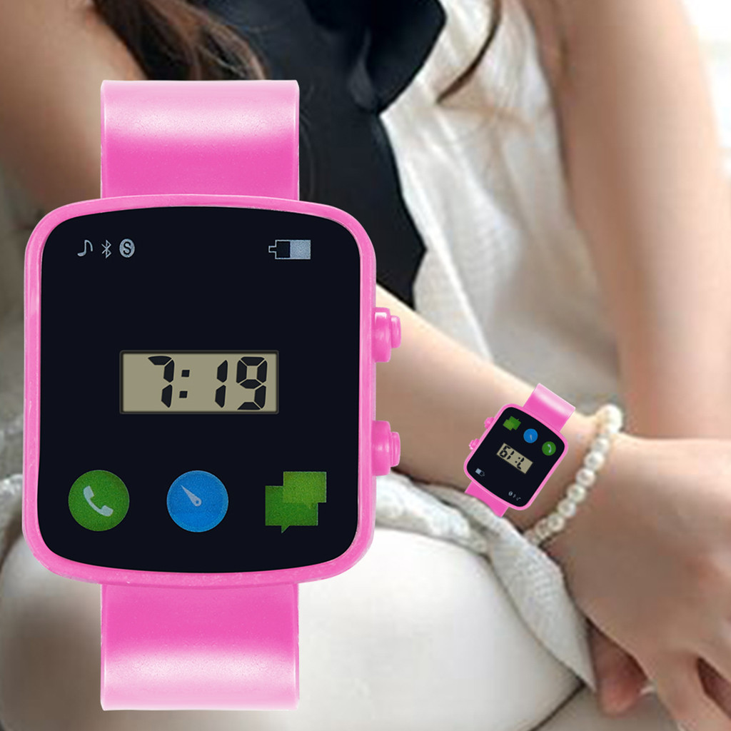 Children Girls Analog Digital Sport LED Watch Electronic Waterproof Wrist Watches New детские смарт часы FJSS