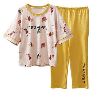 Image 5 - Women Pajamas Spring Summer Pyjamas Set Short Sleeve Sleepwear Pijama Pajama Suit Female Homewear Night Suit
