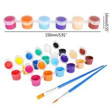Paint-Pigments Gouache Washable Art-Supplies Finger-Paint Vibrant-Colors 12 for Kids