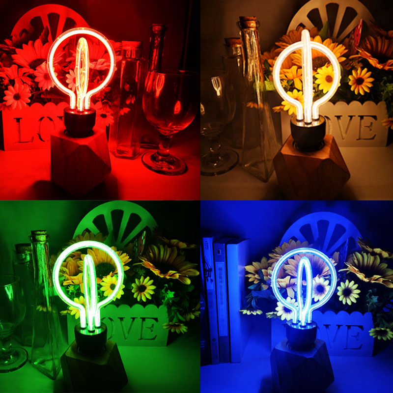 LED Night Lights AC 220V Novelty Romantic Warm White Red Blue Green Table Lamp Wedding Decor Holiday For Party Home Bedroom