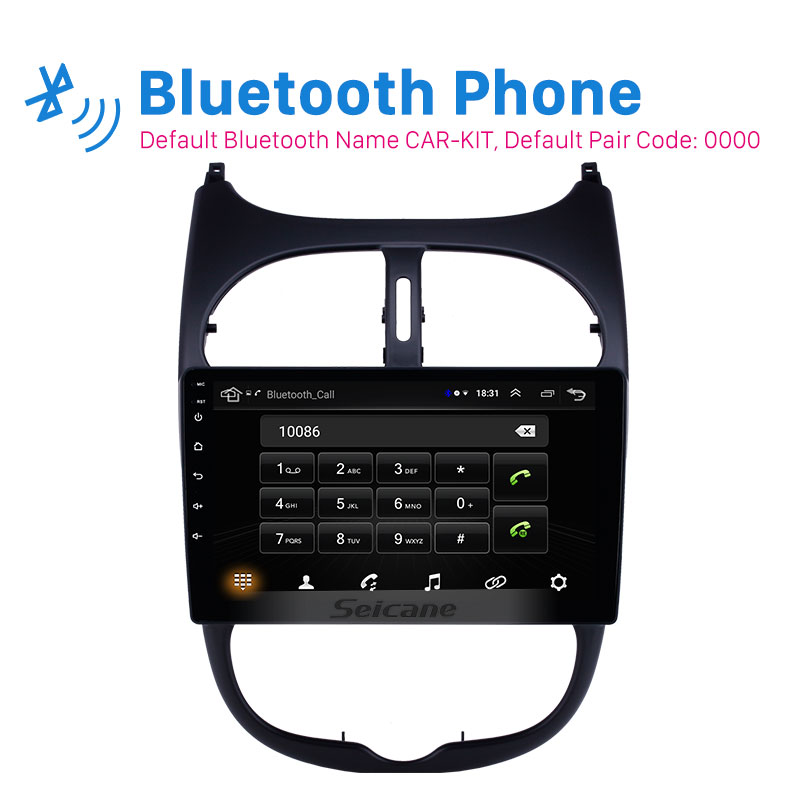 Seicane <font><b>Android</b></font> 8.1 2DIN Car Head Unit Radio Audio GPS Multimedia Player For <font><b>Peugeot</b></font> <font><b>206</b></font> 2000 2001 2002 2003 2004 2005 2006-2016 image