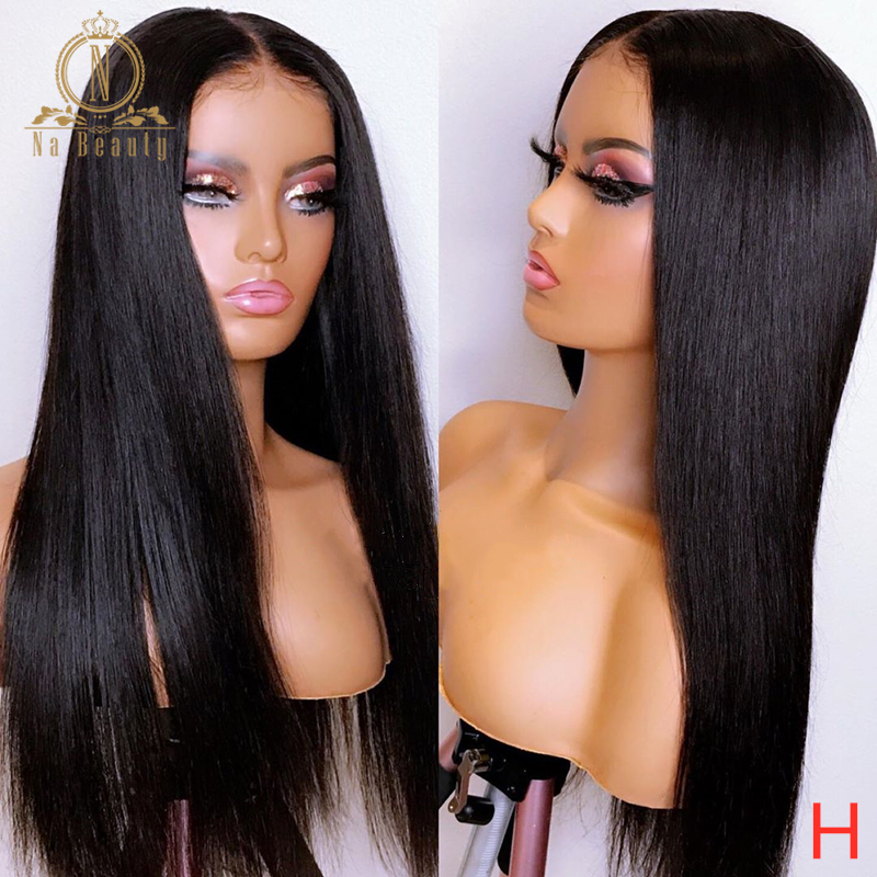 Transparent Lace Wigs 360 Lace Frontal Wig 13x6 Lace Front Human Hair Wigs HD Lace Wig Straight Full Lace Wig Nabeauty Remy 150