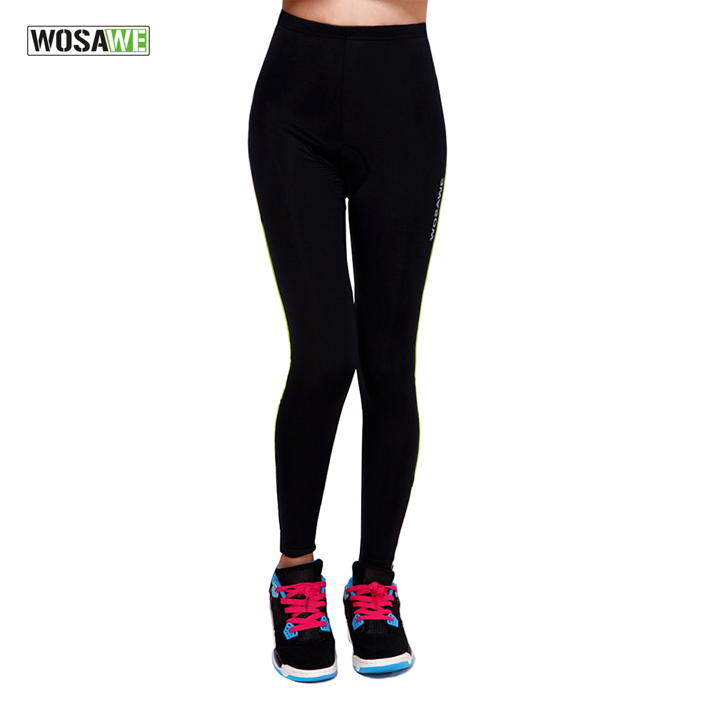 WOSAWE Cycling Pants Sportswear Women 39 s Bike Trousers Bicycle Riding Clothing Padded Spring Female Pants Green Red in Cycling Pants from Sports amp Entertainment