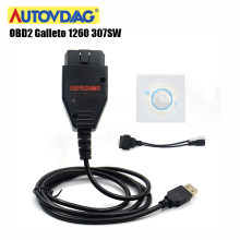 Galleto 1260 OBD2 EOBD ECU puce Tuning voiture outil de Diagnostic OBD 2 307SW Galletto 1260 clignotant 16pin Interface avec plusieurs langues(China)